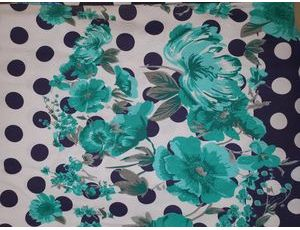 Хлопок Реактив colour цветы mint