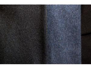 Двунить тёмно-синяя меланжированная