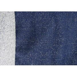 Трёхнить без начёса люрекс синяя (серебро)
