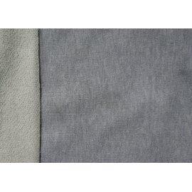 Трёхнить без начёса люрекс светло-серая (серебро)