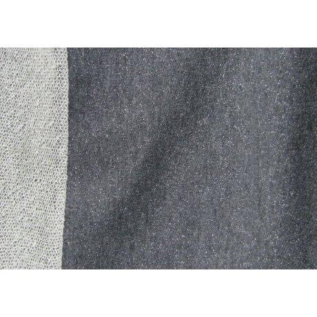 Трёхнить без начёса люрекс тёмно-серая (серебро)