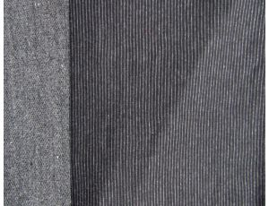 Трёхнить без начёса полоса мелкая чёрная
