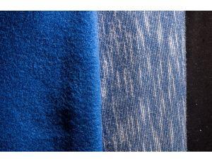 Трёхнить с начёсом полиэстер фламли синяя