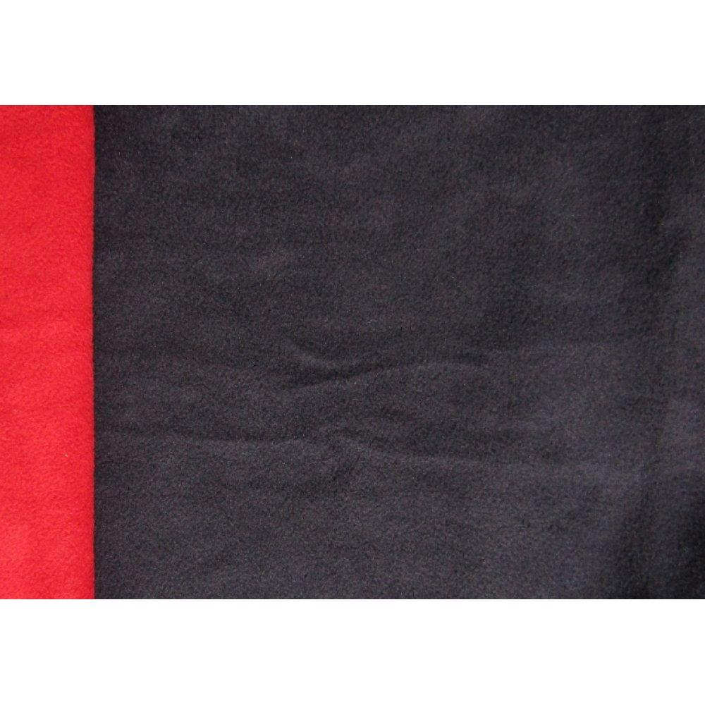 Флис двусторонний чёрный