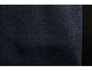 Рибана меланжевая тёмно-синяя