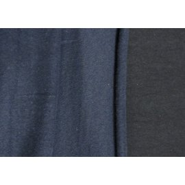 Рибана с начёсом тёмно-синяя