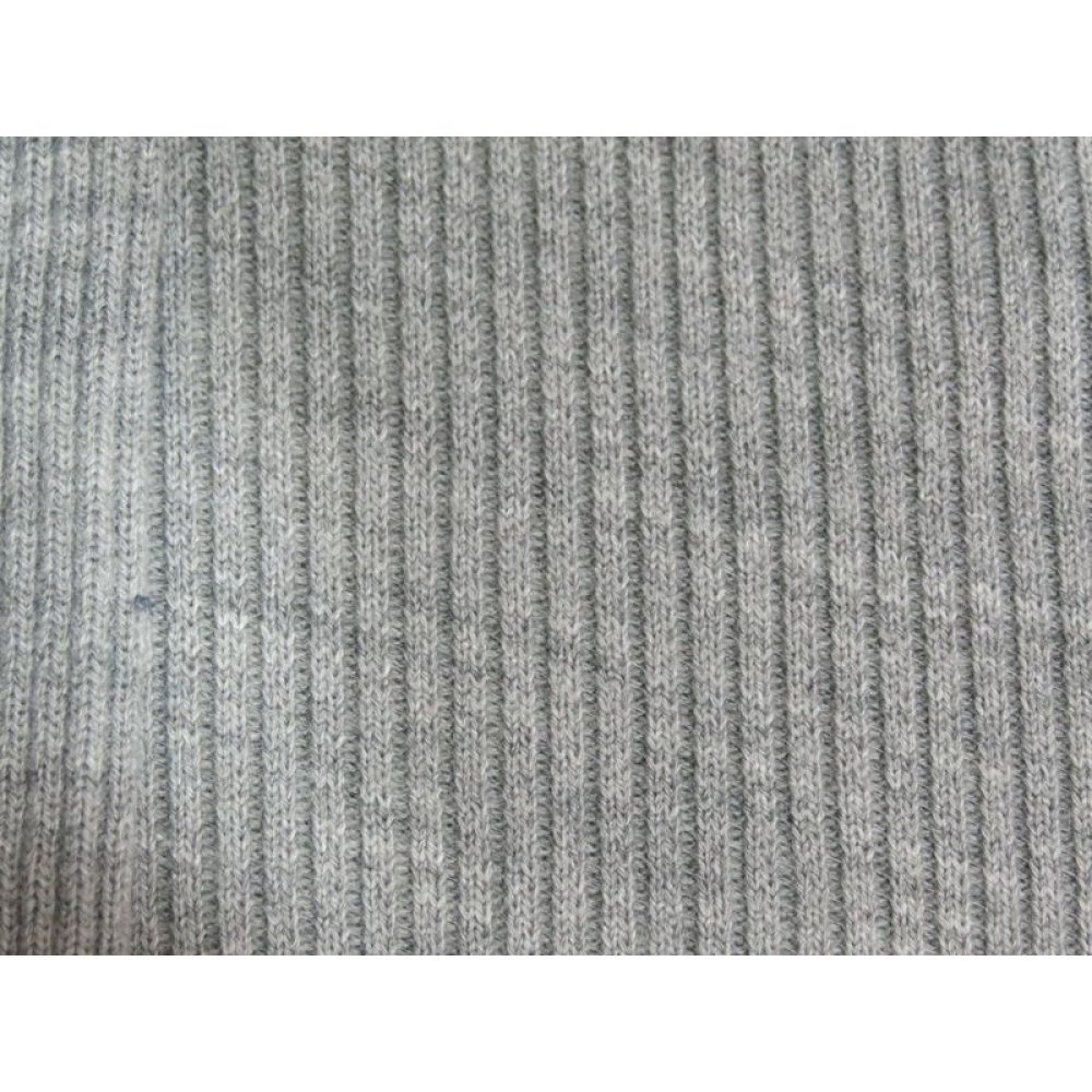 Трикотаж рибана светло-серый