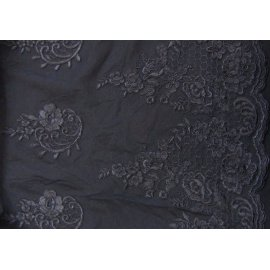 Вышивка на сетке Embroidery чёрная