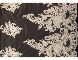 Вышивка на сетке Embroidery молоко