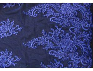 Вышивка на сетке Embroidery тёмно-синяя