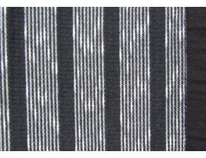 Трикотаж букме полоса чёрный