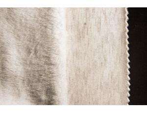 Трикотаж на меху светло-серый