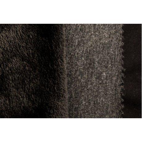 Трикотаж на меху тёмно-серый