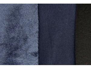 Трикотаж на меху тёмно-синий