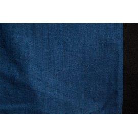 Хлопок-вуаль джинс тёмный